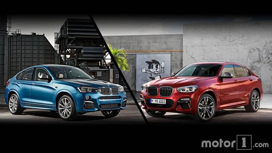 Le nouveau BMW X4 face à son prédécesseur