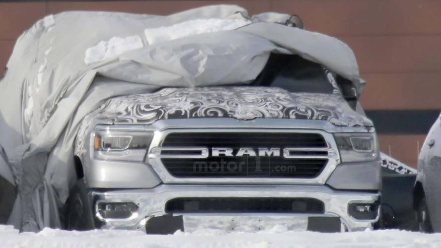 2019 Ram 1500 Spied With Its New Front End Fully Exposed