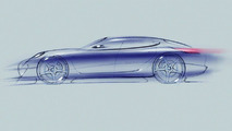 Porsche Panamera Sports Coupe Concept Drawing