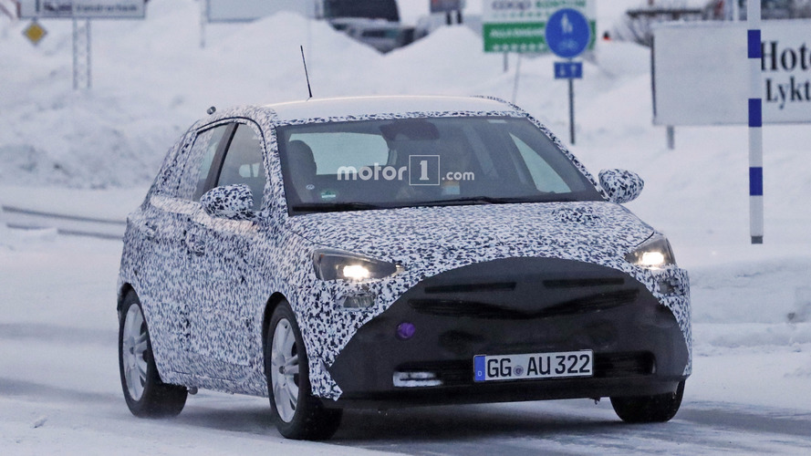 2019 Opel Corsa spy photos
