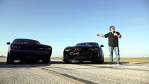 Hellcat versus ZL1 drag race