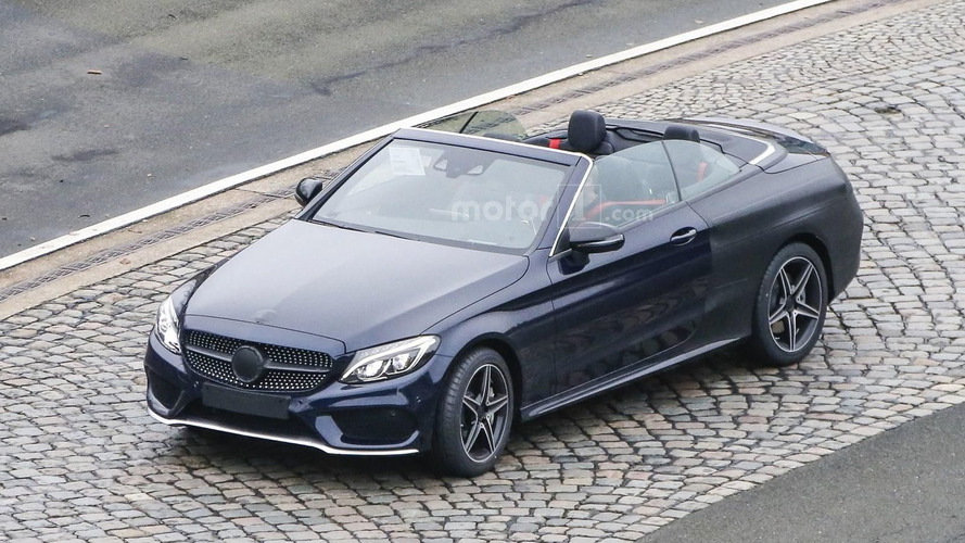 Mercedes C-Class Convertible spied virtually undisguised