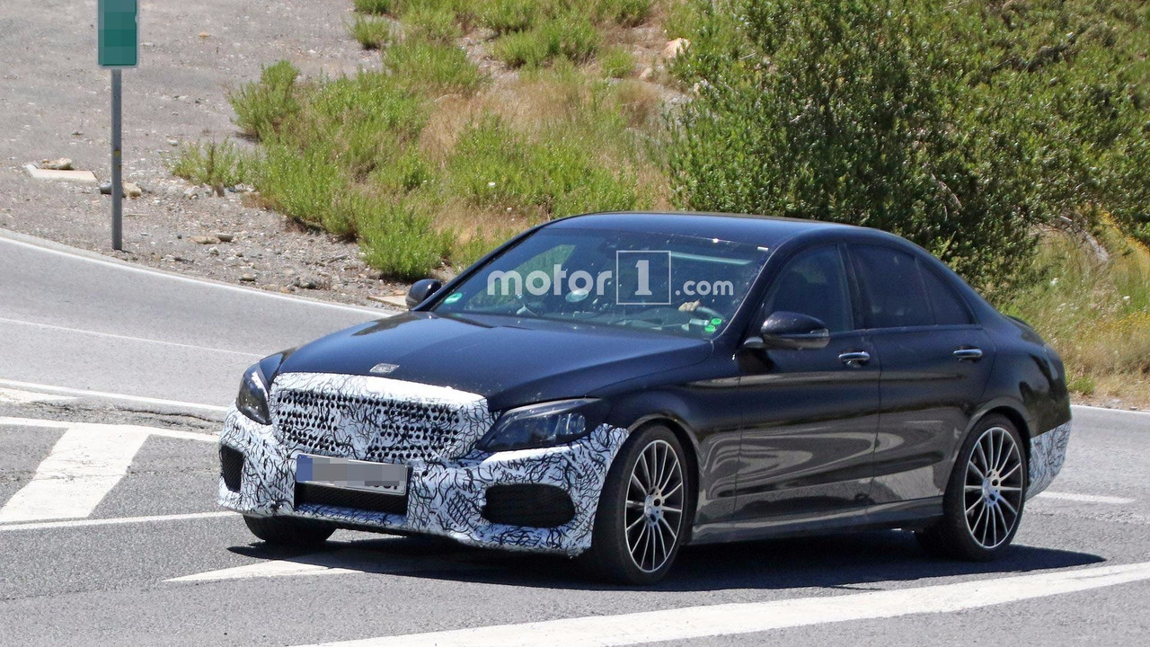 Refreshed mercedes benz c class spied revealing its new cabin for Mercedes benz c300 residual value