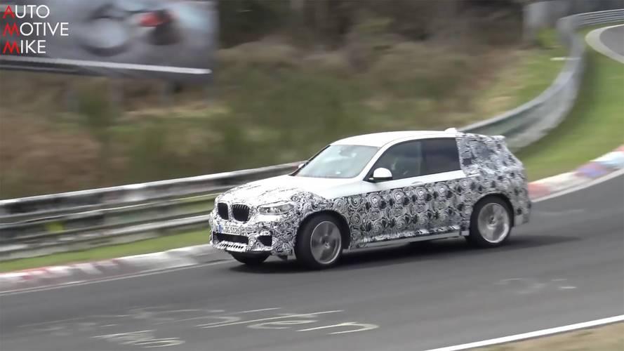 BMW X3 M, pistte sınırlarını zorlarken görüntülendi