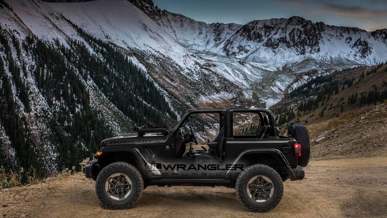 2018 jeep wrangler in multiple colors renders photos. Black Bedroom Furniture Sets. Home Design Ideas