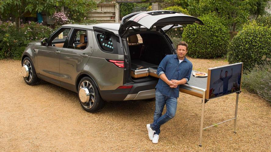 Jamie Oliver's Custom Land Rover Discovery Packs On-Board Kitchen