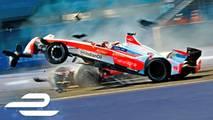 Formula E season 3 crash compilation