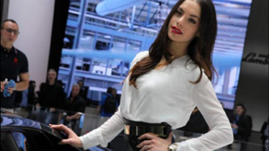 La ragazza più bella di Ginevra 2014 è allo stand Lamborghini
