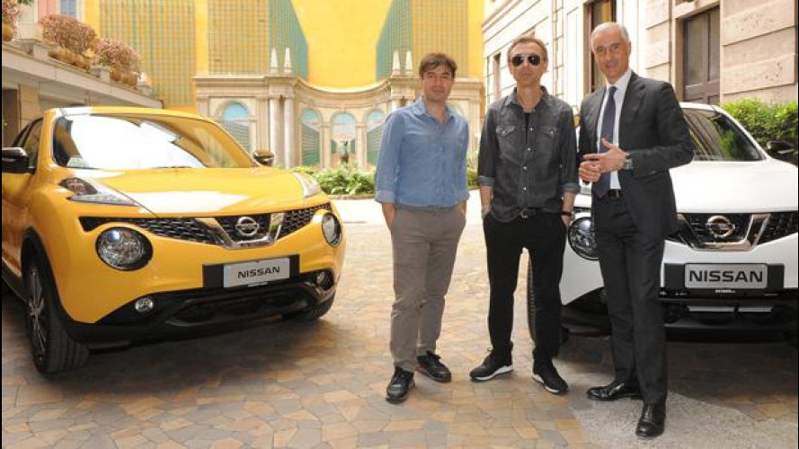 Nissan Juke, Albertino testimonial con Crossover Sounds