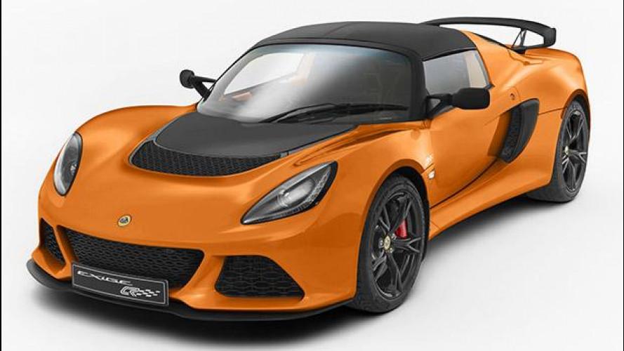 Lotus Exige S Club Racer, per 15 kg in meno
