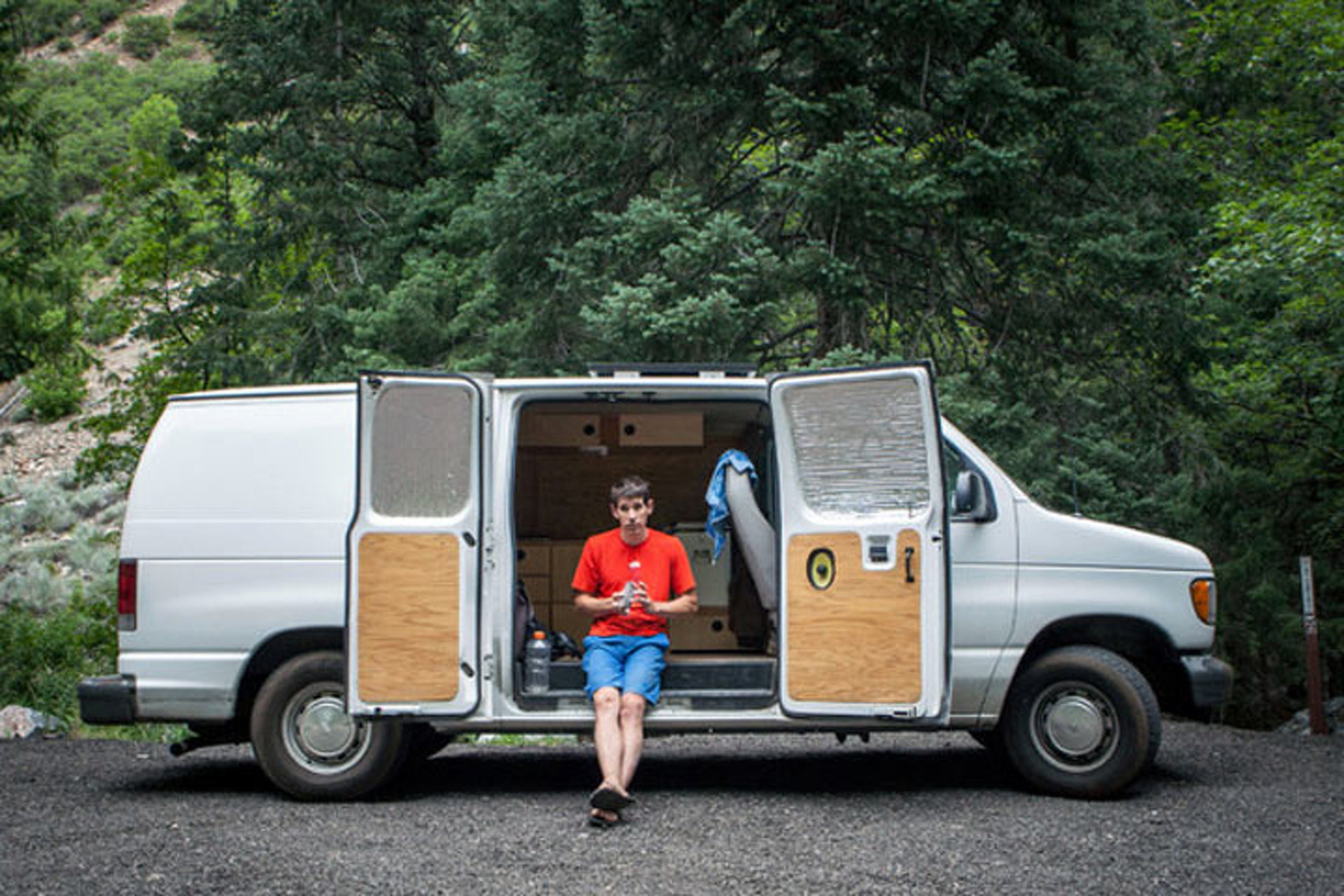 This Pro Climber Lives Close to the Cliffs in a Ford Van