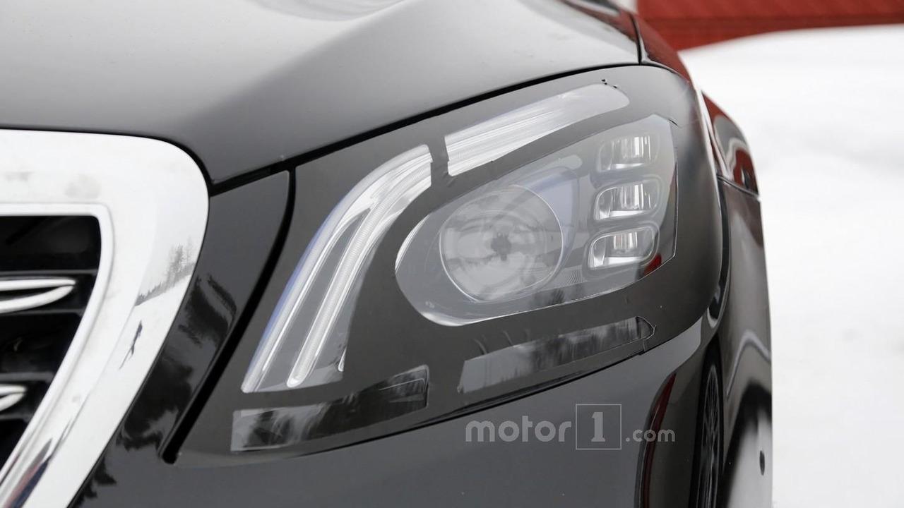 Mercedes S Class facelift spy photo
