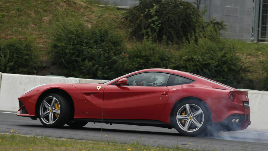 Sebastian Vettel takes a spin in the Ferrari F12berlinetta [video]