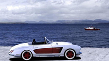 Mercedes-Benz 300 SL Roadster (W198) gets wide body kit from Atelier Valdeig
