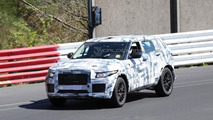 Jaguar crossover spied on the Nurburgring