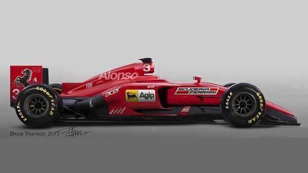 2014 Ferrari Formula 1 car speculative rendering