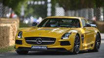 Mercedes A45 AMG & SLS AMG Black Series arrive at Goodwood