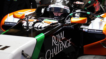 Sergio Perez with Sahara Force India F1 VJM07 28.01.2014 Formula One Testing Jerez Spain