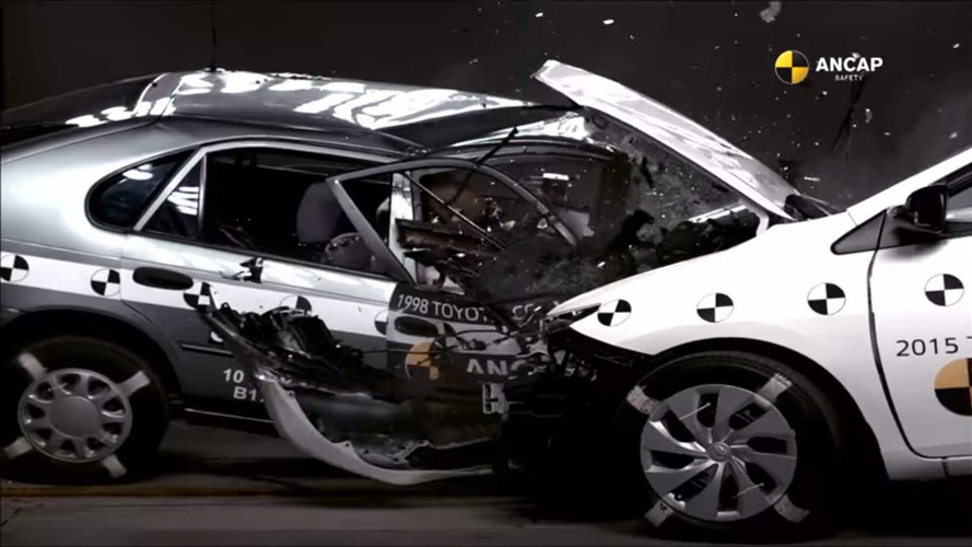 Compare Old Versus New In Shocking Toyota Corolla Crash Test