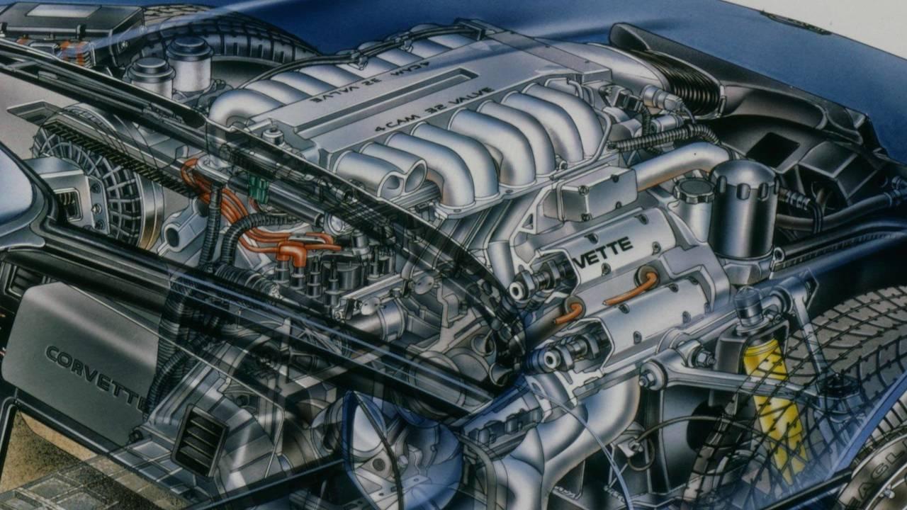 5.7 litrelik LT5 DOHC V8