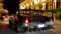 Lewis Hamilton driving his one-off Pagani Zonda 760 LH in Monaco