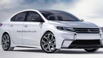 2016 Mitsubishi Lancer rendering / Theophilus Chin
