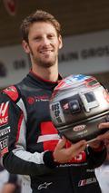 Romain Grosjean, Haas F1 Team, 100'üncü GP'sini takımıyla kutluyor