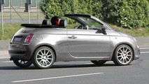 Fiat 500 Convertible spy shot. Expected to debut in the summer of 2008.