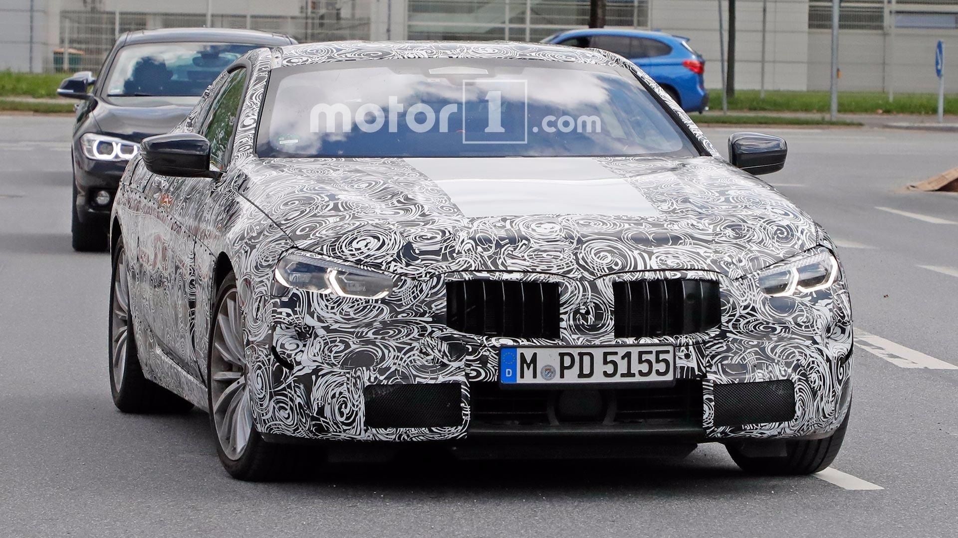 Bmw 8 Series Spied With Production Headlights Like The