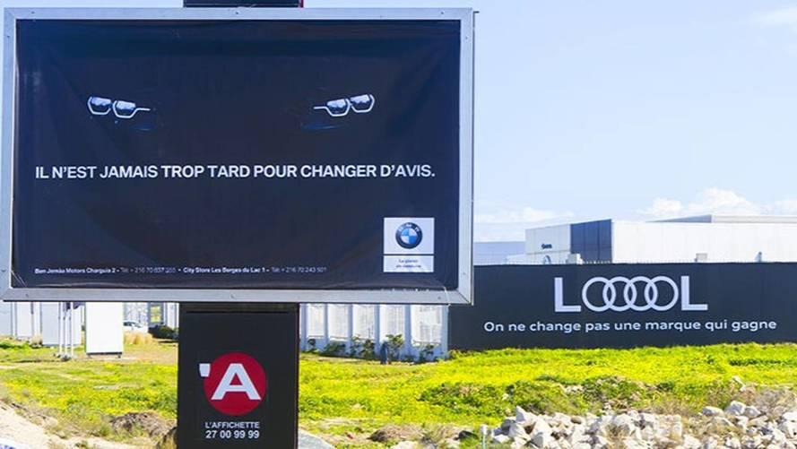 Insolite - Audi et BMW se chambrent via des panneaux publicitaires