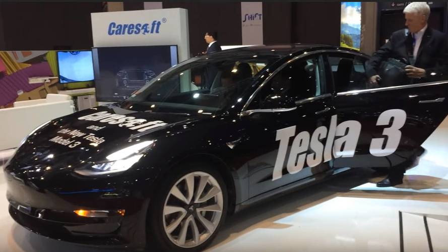 Model 3 Displayed At Geneva Motor Show, But Not By Tesla