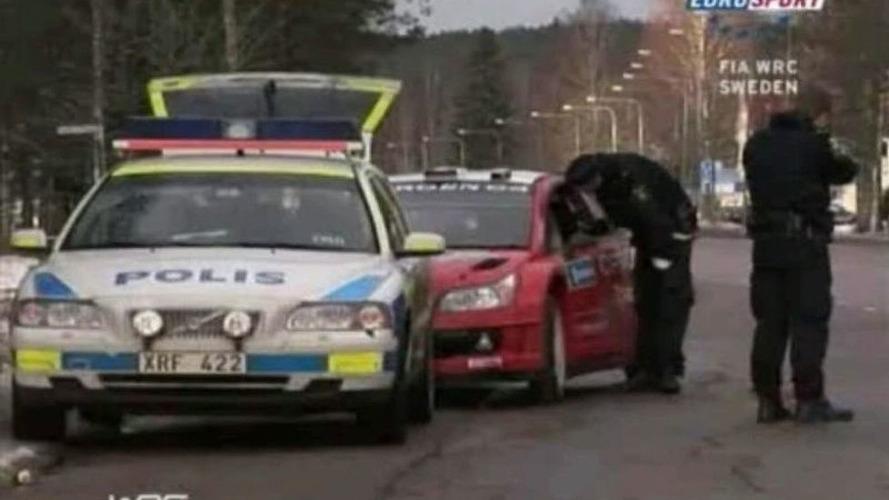 VIDEO: Rally Champ Sebastien Loeb Gets Speeding Ticket at Swedish Rally