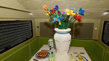 Life-size Lego caravan