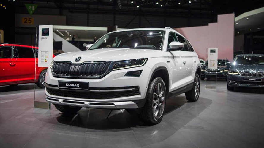 skoda kodiaq gets stylish sportline trim and rugged scout trim. Black Bedroom Furniture Sets. Home Design Ideas