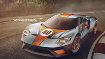 2017 Ford GT with Gulf livery render
