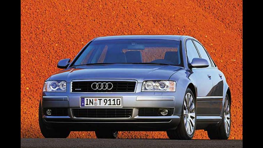 Audi A8 4.2 quattro: Luxuriöse Leichtbau-Limousine im Test