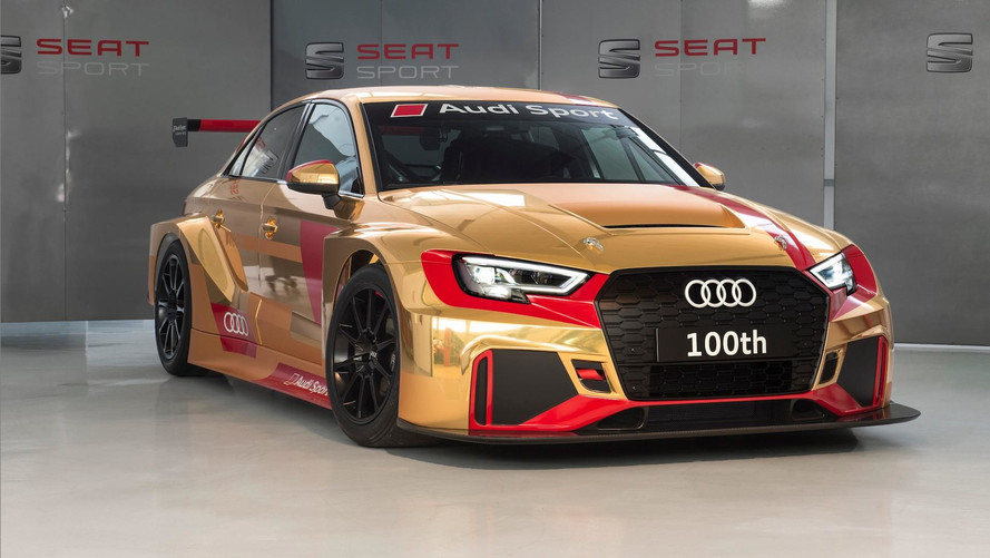 Audi Delivers 100th RS3 LMS Customer Car In Special Gold Livery