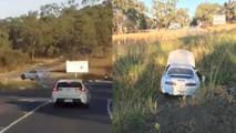 Nadir Toyota Supra'nın ilginç kazası videoya alındı