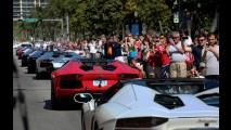 Vídeo: Uma frota de Lamborghini Aventador LP 700-4 invade Miami