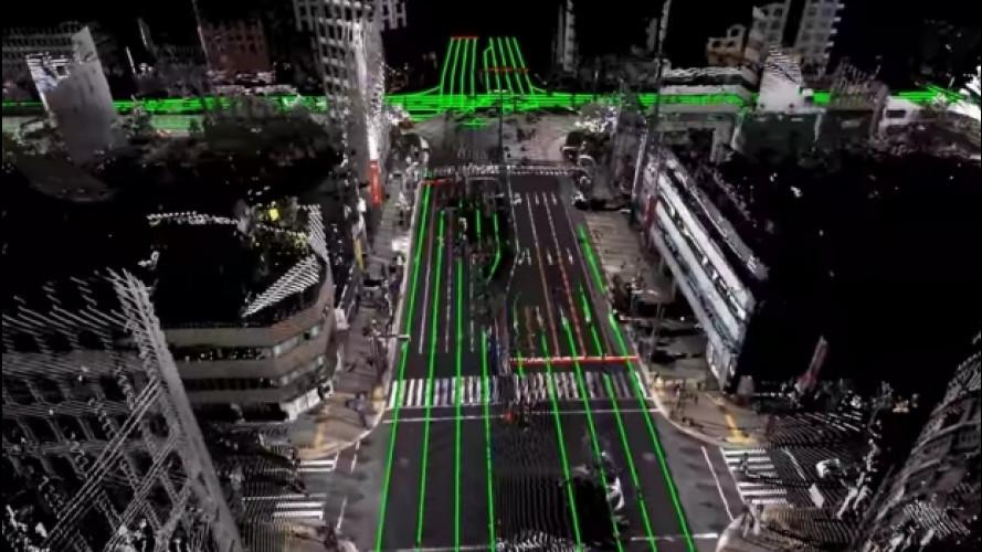 Guida autonoma, il Giappone studia mappe 3D