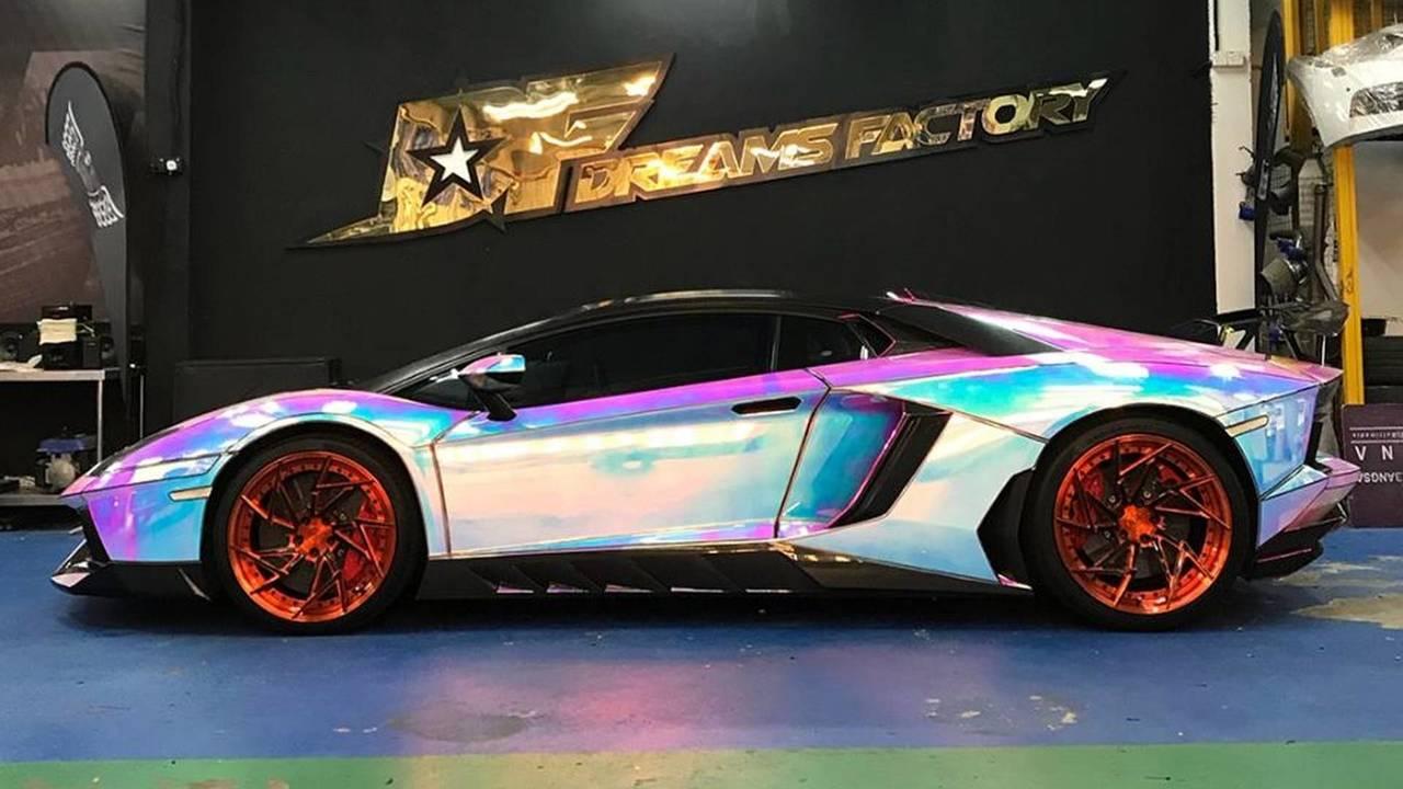 Lamborghini Aventador With Hologram Wrap