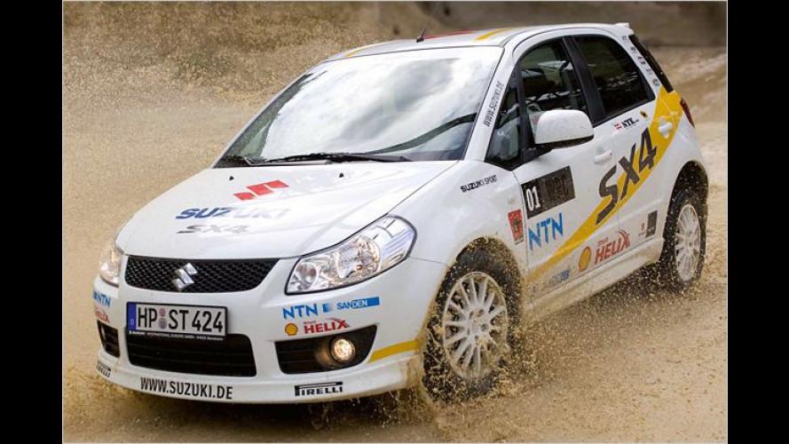 Schotteralarm: Suzuki SX4-Fünftürer im WRC-Rallye-Look