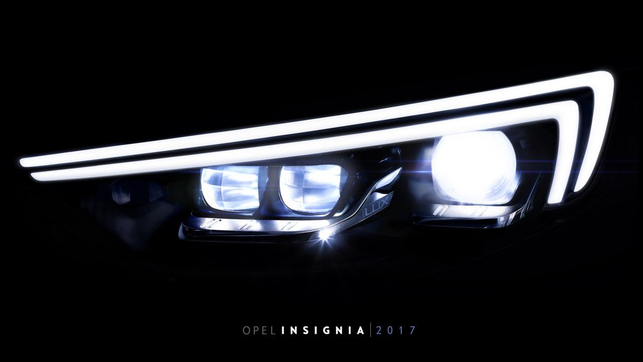 2017 Opel Insignia headlight teaser
