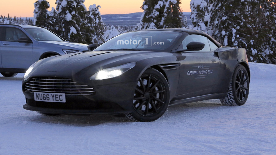 A closer look at the Aston Martin DB11 Volante via 34 spy shots