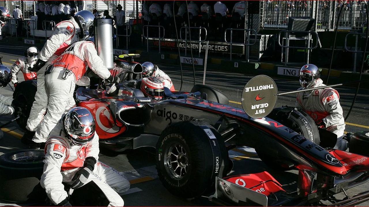 Team McLaren at Australian grand prix 2009