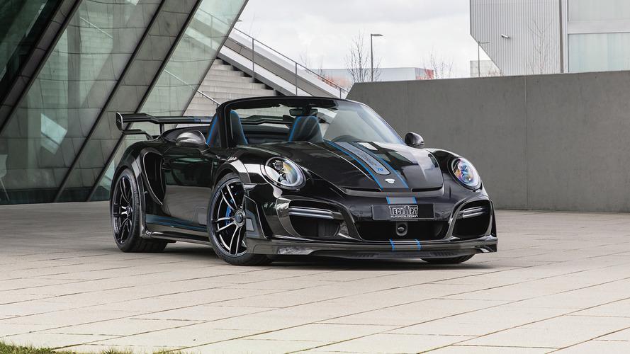 Techart'ın 720 bg'lik Porsche 911 Turbo'sunun tavanı yok
