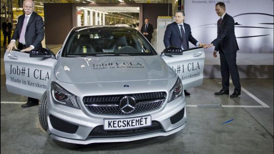 Mercedes CLA, avviata la produzione