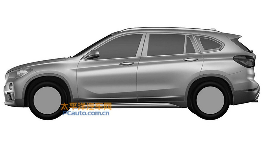 BMW X1 long wheelbase leaks via patent images