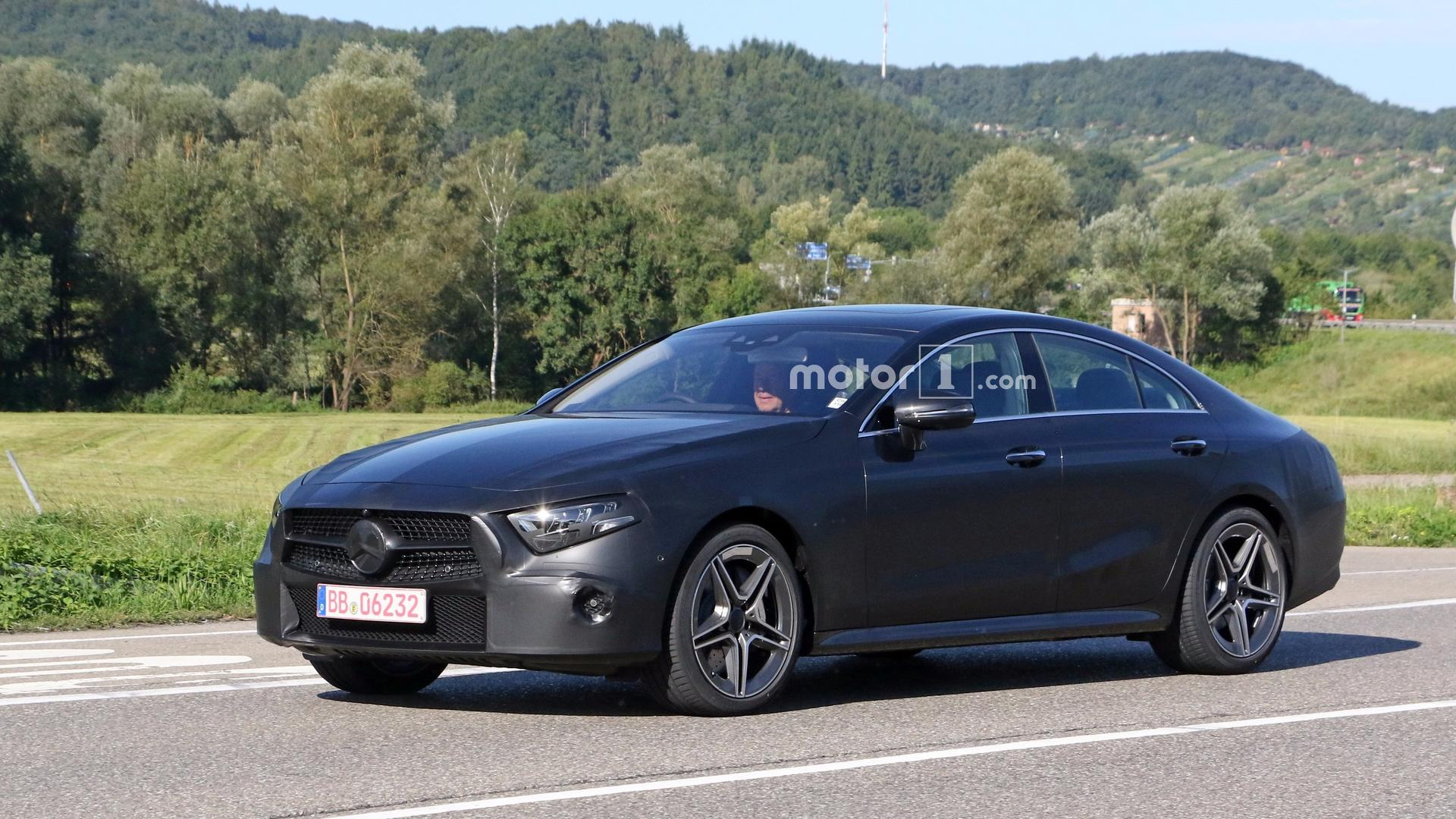 2018 mercedes cls spied with less camo than ever before for Mercedes benz website usa