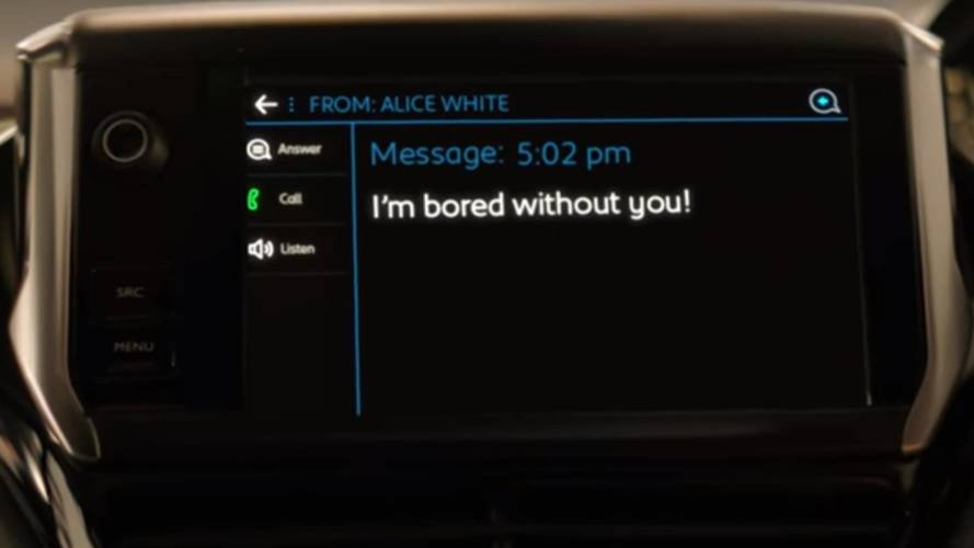 Text message causes Peugeot ad to be banned